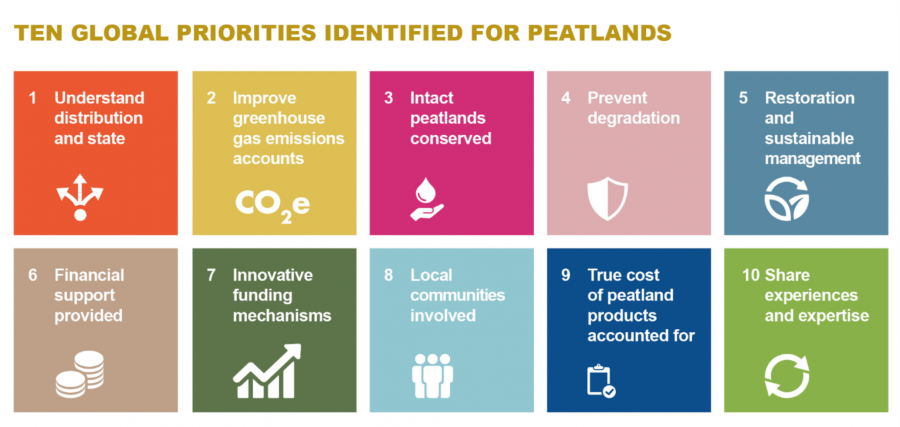 Strategic actions for protecting pealtands