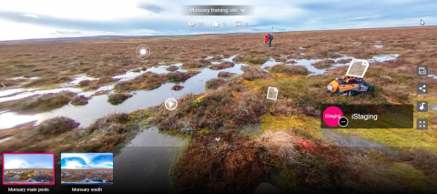 Plantlife's Munsary Peatlands, Caithness iStaging Training site.