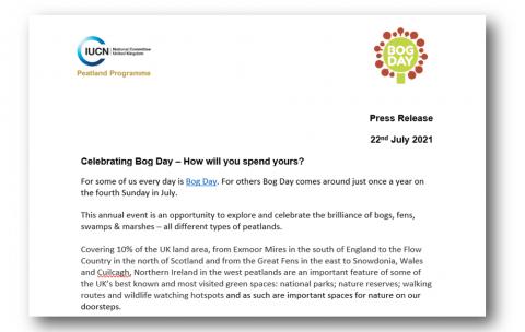 Bog Day 2021 press release