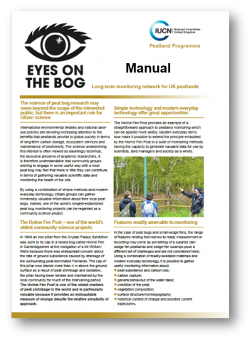 Eyes on the Bog manual