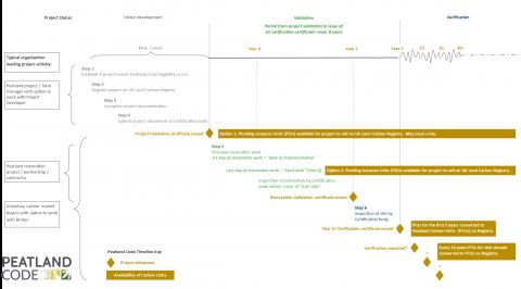 Peatland Code timeline