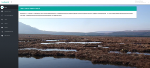 Screenshot of PeatDataHub database