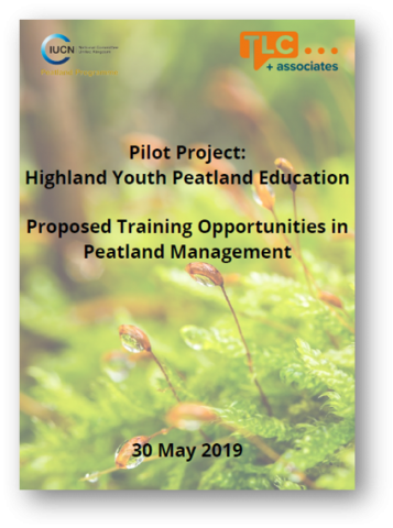 Pilot project: Proposed training opportunities in peatland management