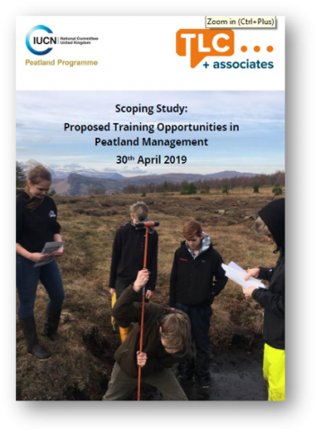 Scoping Study: Proposed opportunities in peatland training and management