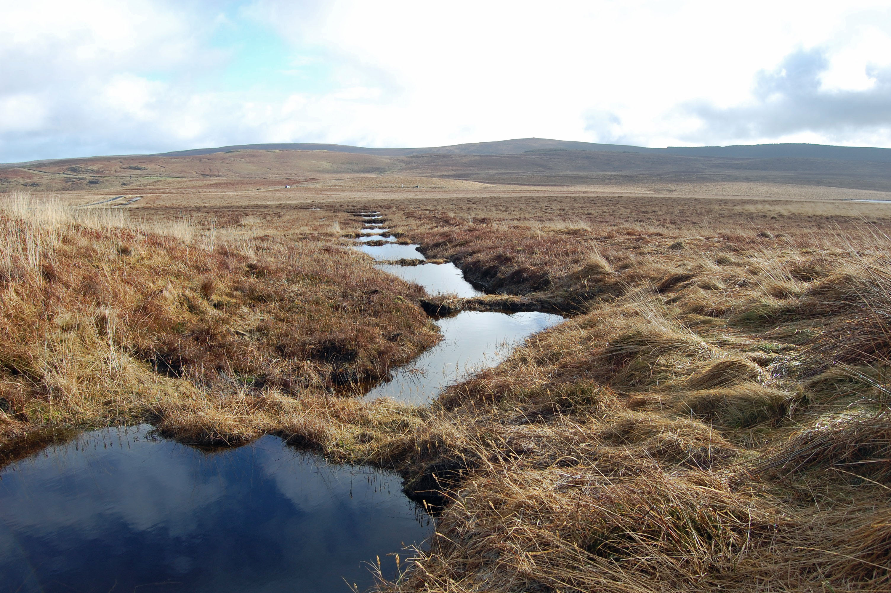 Peat dams at Dungonnell Catchment