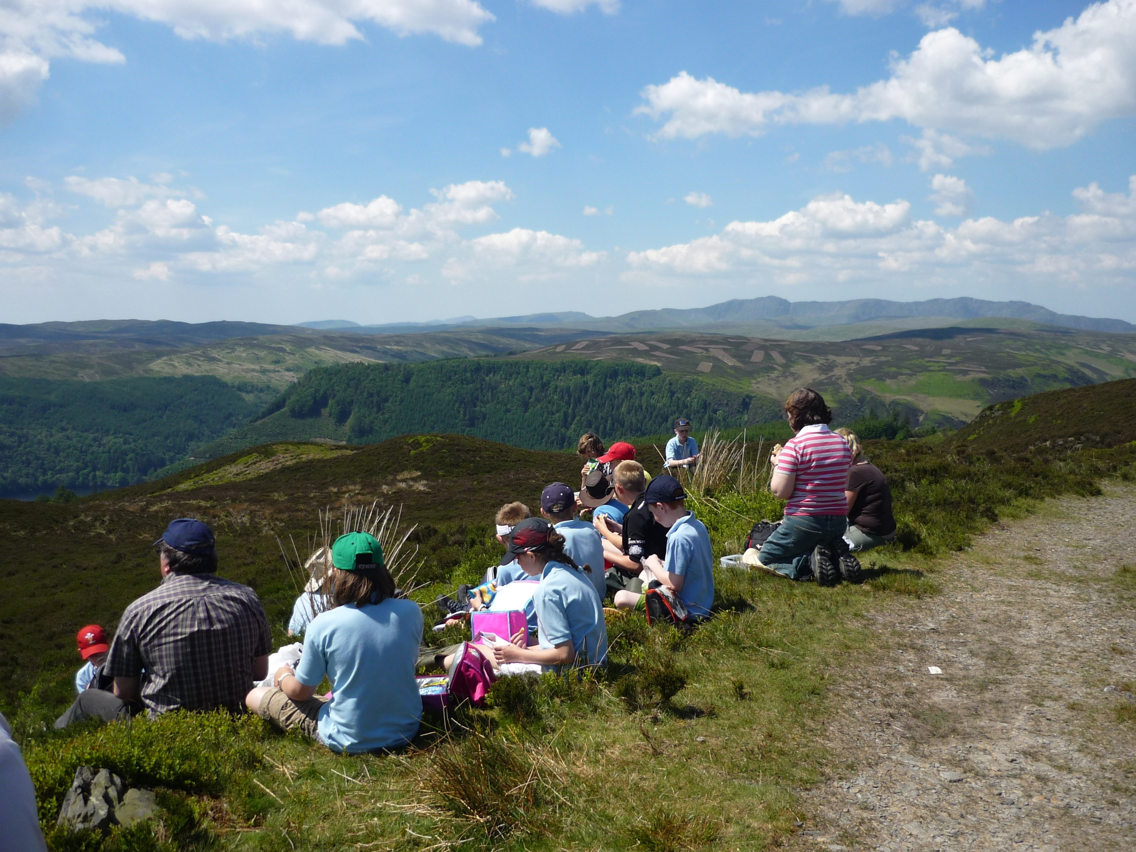 Visit by school group to RSPB Lake Vyrnwy - Credit RSPB